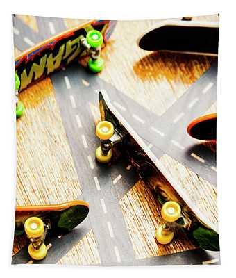 Side Streets Of Skate Tapestry