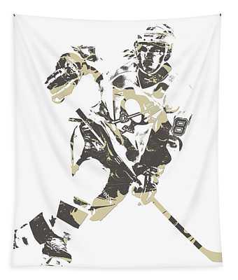 Sidney Crosby Pittsburgh Penguins Pixel Art 11 Tapestry