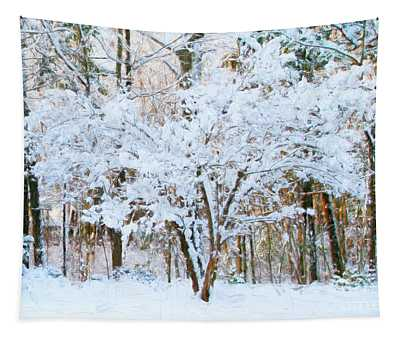 Siebold Viburnum In Snow Tapestry