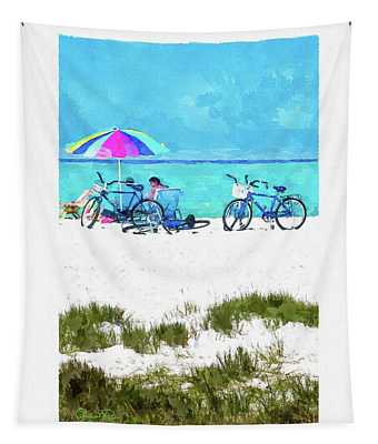 Siesta Key Beach Bikes Tapestry