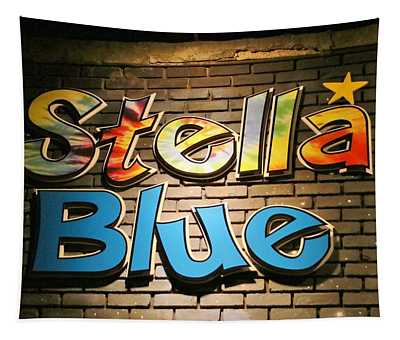 Sign Of Stella Blue Tapestry