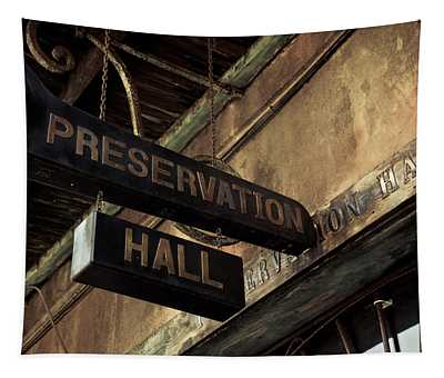 Signboard On A Building, Preservation Tapestry