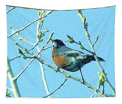 Signs Of Spring Tapestry by Vallee Johnson