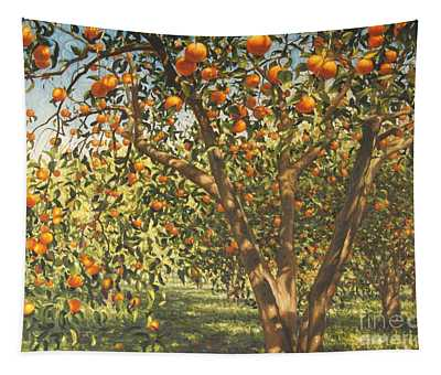 Silence Under The Oranges I, 2012 Tapestry