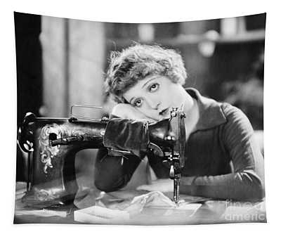 Silent Film Still: Sewing Tapestry