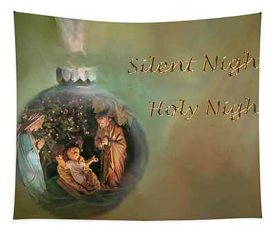 Silent Night, Holy Night, Christmas Ornament Greeting Card Tapestry