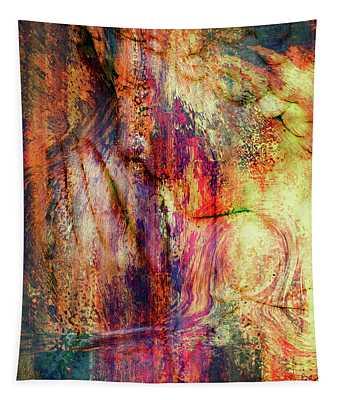 Silent Prayers Abstract Realism Tapestry