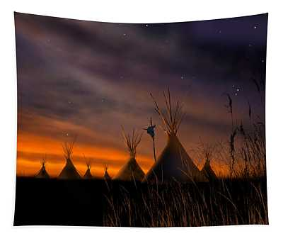 Silent Teepees Tapestry
