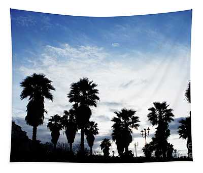 Silhouette In Tropea Tapestry