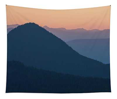 Silhouettes At Sunset, No. 2 Tapestry