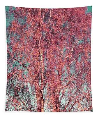Silver Birch In Pink Tapestry