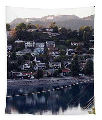 Silver Lake Reservoir And Hollywood Hills Tapestry
