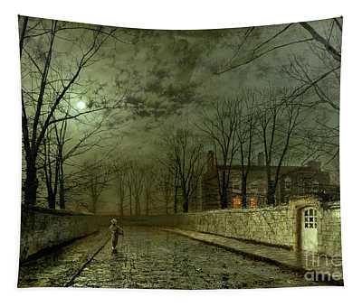 Silver Moonlight Wall Tapestries