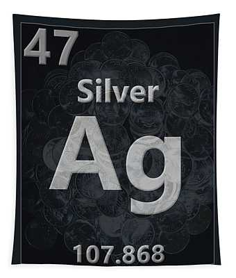 Silver Periodic Table Tapestry