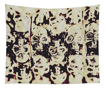 Silver Skull Art Tapestry