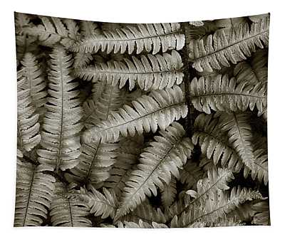 Silvery Ferns Tapestry