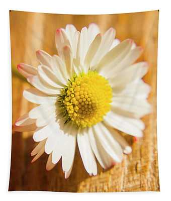 Simple Camomile  In Sunlight Tapestry