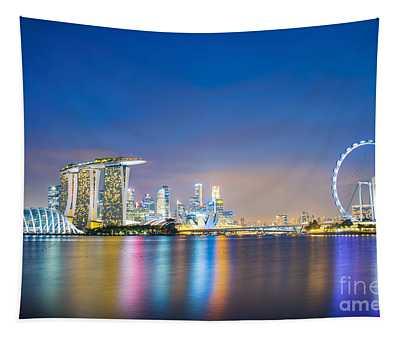 Singapore Blue Hour Tapestry
