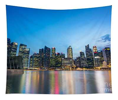 Singapore By Night Tapestry
