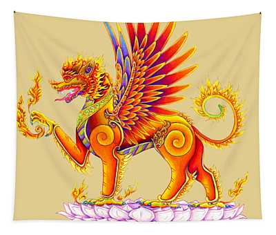 Singha Winged Lion Tapestry
