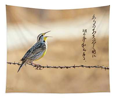 Singing Meadowlark Tapestry