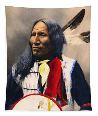 Sioux Chief Portrait Tapestry