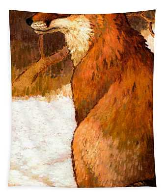 Sitting Fox Tapestry