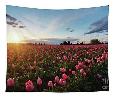 Skagit Sunset Field Tapestry