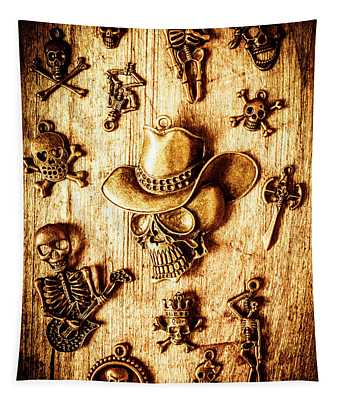 Skeleton Pendant Party Tapestry