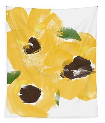 Sketchbook Sunflowers- Art By Linda Woods Tapestry