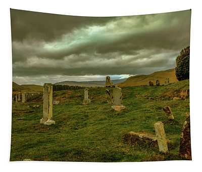 Skies And Headstones #g9 Tapestry