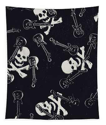 Skull Rockers Art Tapestry
