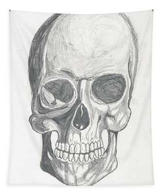 Skull Study 2 Tapestry