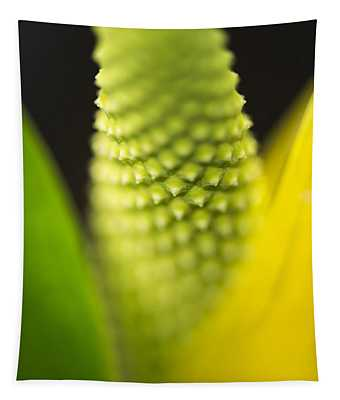 Skunk Cabbage Abstract Tapestry