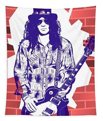 Slash Graffiti Tribute Tapestry