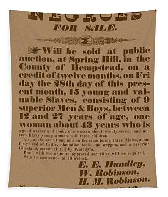 Slave Auction Tapestry