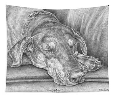 Sleeping Beauty - Doberman Pinscher Dog Art Print Tapestry
