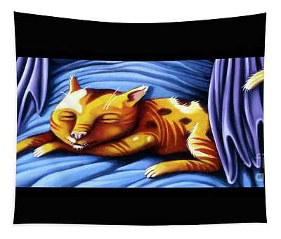 Sleeping Kitty Tapestry