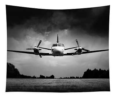 Small Airplane Low Flyby Tapestry