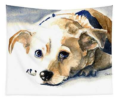 Small Dog With Tan Short Hair  Tapestry