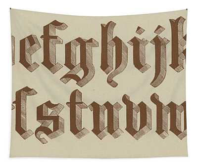 Small Old English Riband  Tapestry