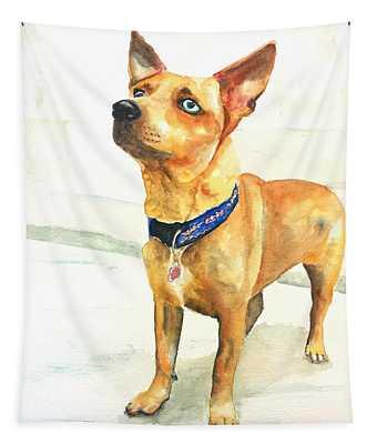 Small Short Hair Brown Dog Tapestry