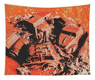 Smashem Crashem Cars Tapestry