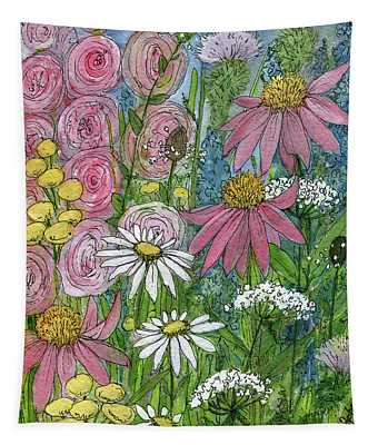 Smiling Flowers Tapestry