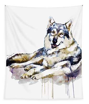 Smiling Wolf Tapestry