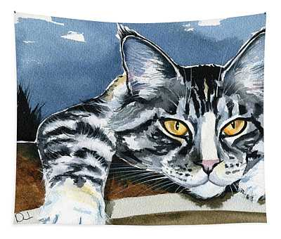 Smilla - Maine Coon Cat Painting Tapestry