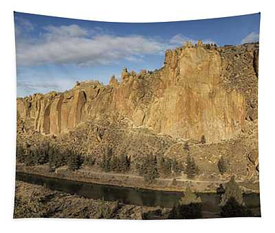 Smith Rock And Crooked River Panorama Tapestry