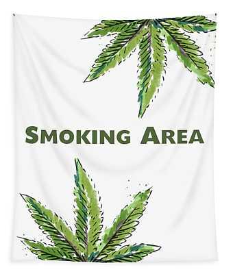 Smoking Area - Art By Linda Woods Tapestry