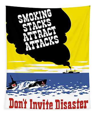 Smoking Stacks Attract Attacks Tapestry
