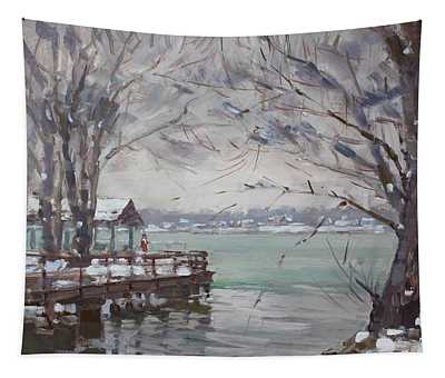 Snow At Fishermans Park Tapestry